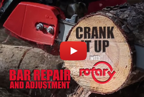 Chain Saw Bar Adjustment